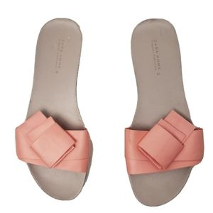 Zara sandals home lingerie collection pink bow 41